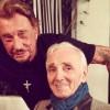 Charles Aznavour, père spirituel de Johnny Hallyday