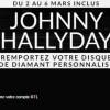 Gagnez un disque diamant de Johnny Hallyday à votre nom