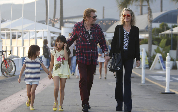 Johnny Hallyday Santa Monica en famille 02