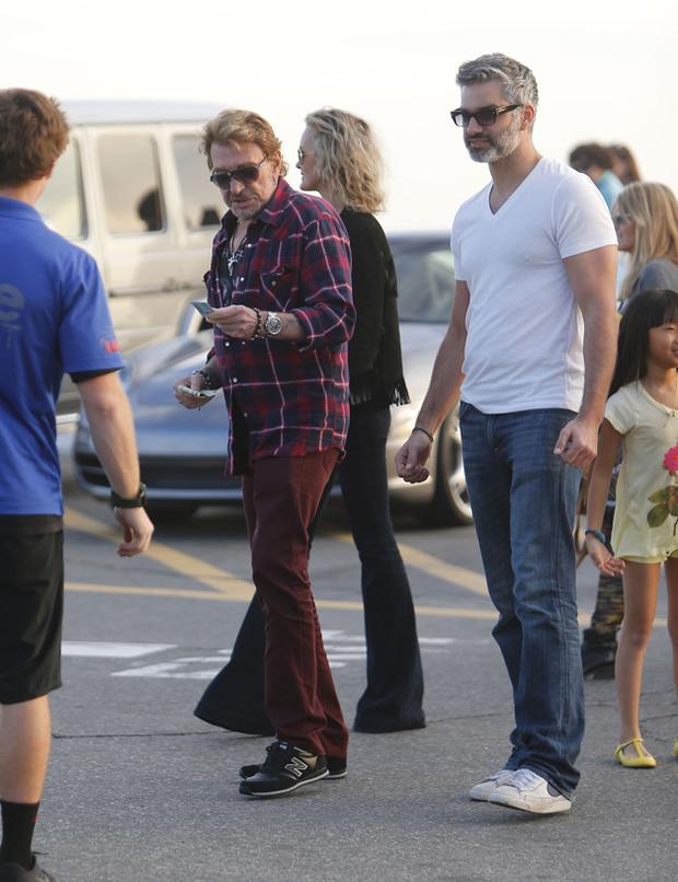 Johnny Hallyday Santa Monica en famille 04