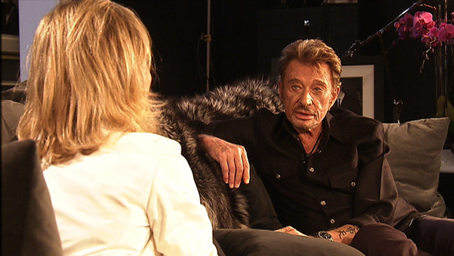 interview johnny hallyday avec claire chazal