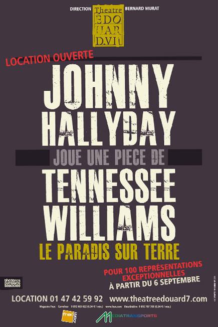 Affiche Le paradis sur Terre avec Johnny Hallyday