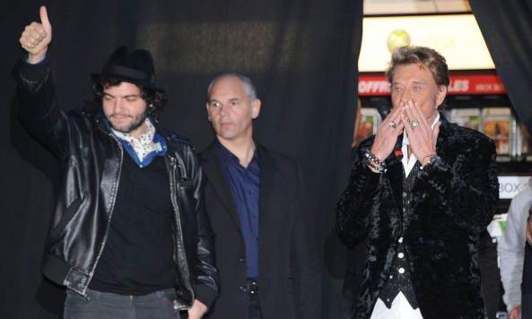 Johnny Hallyday au Virgin des Champs Elysées 27 mars 2011
