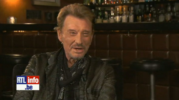 Johnny Hallyday interviewé par RTL Belgique