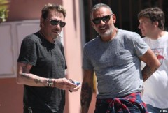 Johnny Hallyday Christian Audigier amis