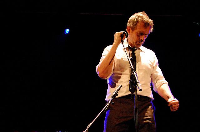 Johnny Hallyday au concert de Hugh Laurie