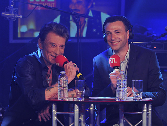 photo concert privé Johnny Hallyday RTL