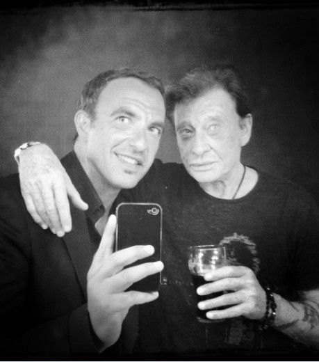 Johnny Hallyday et Nikos Aliagas