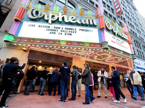 Johnny Hallyday concert Los Angeles Orpheum