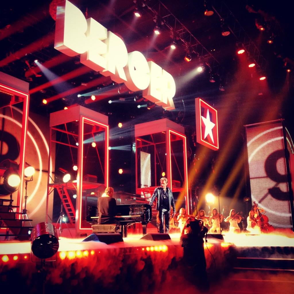 Johnny Hallyday émission TF1 Michel Berger : Tout pour la musique