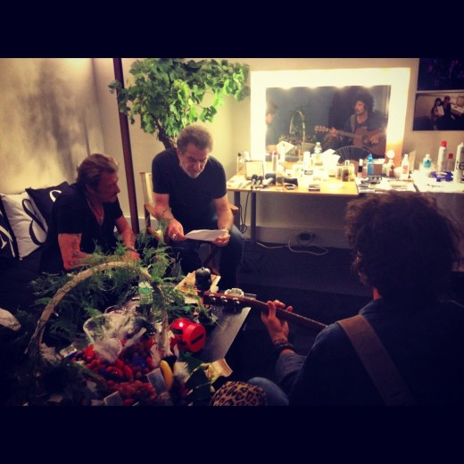 Johnny Hallyday et Eddy Mitchell backstage Stade de France 2012