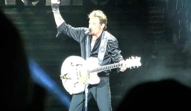johnny hallyday guitare Gretsch 69 ans