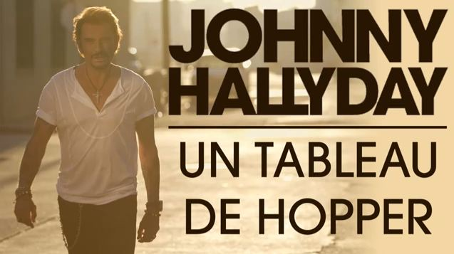 Johnny Hallyday Un tableau de Hopper