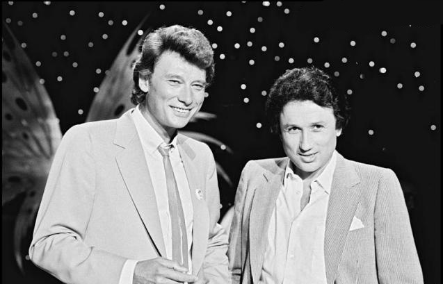 Johnny hallyday et Michel Drucker