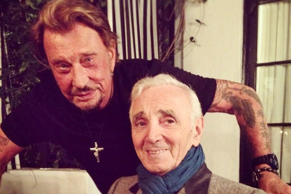 Johnny Hallyday Charles Aznavour_Snapseed
