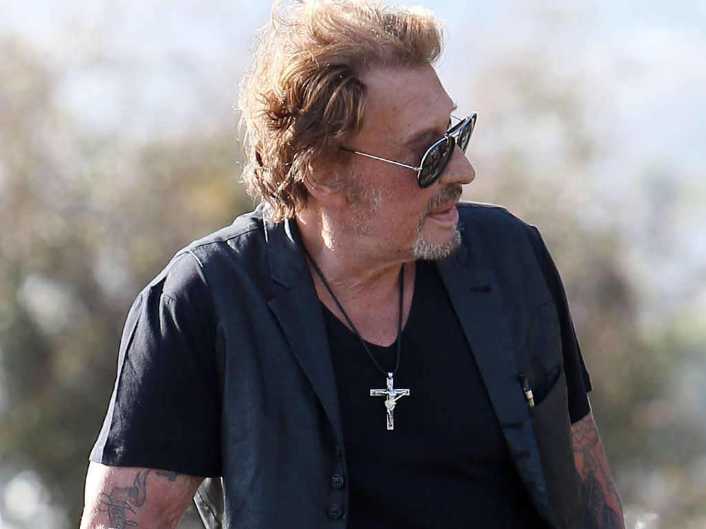 Croix collier Johnny Hallyday crucifix