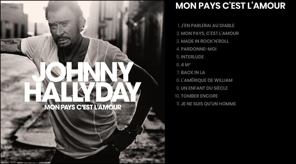 Mon Pays c'est l'amour Johnny Hallyday
