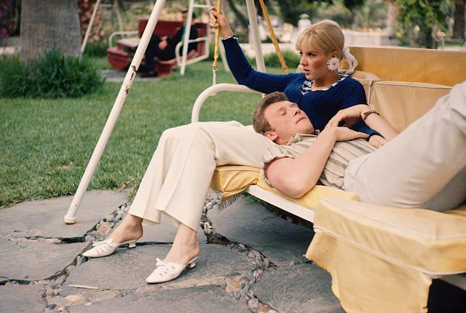 Johnny Hallyday et Sylvie Vartan en vacances